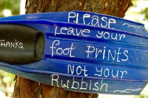 leave your footprints not your rubbish